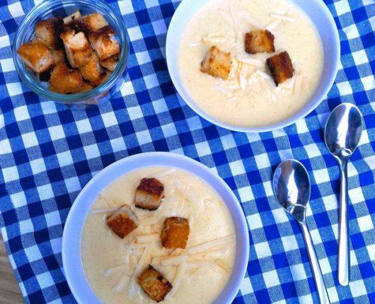 Beer cheese soup (sopa de cerveja com queijo)