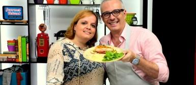 Salmão com maçã caramelizada e um bom papo no Gourmet Network