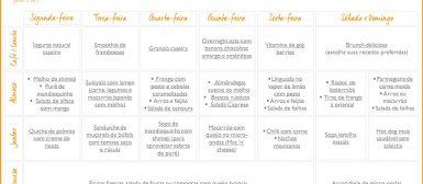 Cardápio da Semana: seleção de receitas para a semana inteira! (n. 1)