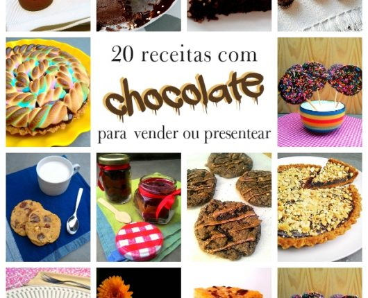 20 receitas com chocolate para vender ou presentear