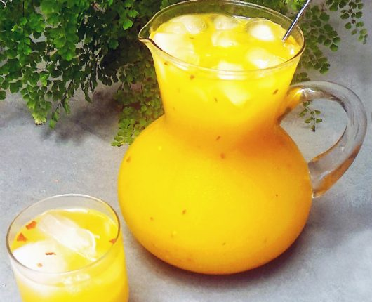 Drink de tangerina com pimenta (sem álcool)