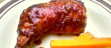 Frango ao molho barbecue (Barbecue grilled chicken)